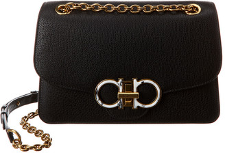 Salvatore Ferragamo Studio Gancini Leather Shoulder Bag