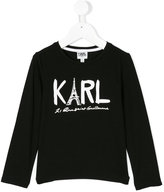 Karl Lagerfeld branded long-sleeved top - kids - Cotton/Spandex/Elastane - 2 yrs