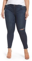 Plus Size Women's Wit & Wisdom Twisted Seam Ankle Skimmer Jeans