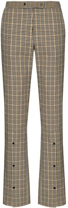 Brøgger Kit mid-rise check-pattern trousers