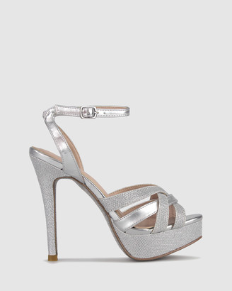 betts Raquel Platform Metallic Sandals