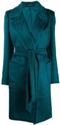 Tagliatore Belted Wool Coat