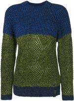Kenzo striped knitted sweater - women - Polyamide/Wool/Alpaca - XS