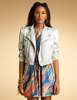 Quilted Stitched Jean Jacket, Ships 5/7