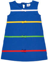 Florence Eiseman Multicolored Bands & Bow A-Line Dress, Size 2-6X