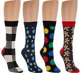 Happy Socks Men's Holiday Crew Socks Set of 4