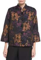 Caroline Rose Festive Floral Bell-Sleeve Jacket, Plus Size