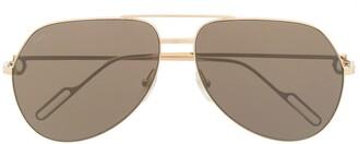 Cartier Logo Tinted Aviator Sunglasses