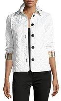 Burberry Ashurst Classic Modern Quilted Jacket, Chalk