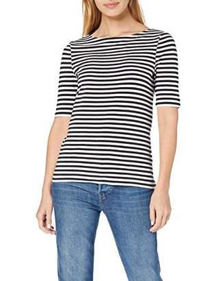 Gant Women's D1. Boatneck Striped Top Vest, Evening Blue 433, Large