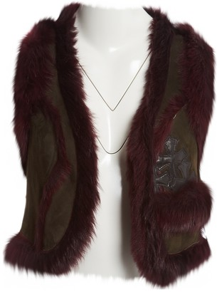 Chrome Hearts Brown Fox Jacket for Women