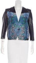 Helmut Lang x Intermix Leather Printed Jacket