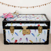 Milly Green Feathers Tuck Box