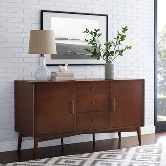 "Crosley Furniture Landon Sideboard In Mahogany - 57""W x 19""D x 30""H"