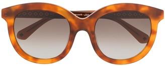 Kate Spade Lillian tortoiseshell round-frame sunglasses