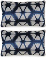 Miles Talbott Collection S/2 Entangle 12x20 Pillows, Indigo