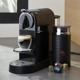 Crate & Barrel Nespresso ® Citiz Black Espresso Machine with Milk Frother
