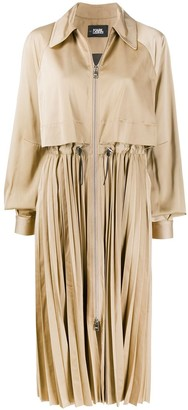 Karl Lagerfeld Paris Technical Pleated Trench