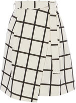 Karen Millen Windowpane Wrap Skirt