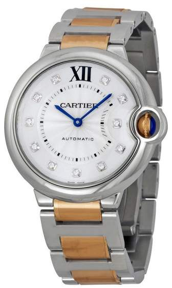 Cartier Ballon Bleu WE902031 Automatic Stainless Steel and 18K Rose Gold 36mm Watch