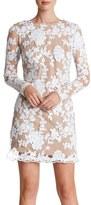 Dress the Population 'Grace' Sequin Lace Long Sleeve Shift Dress
