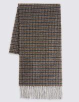Marks and Spencer Pure Wool Mini Checked Scarf