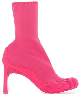 Balenciaga Heeled Toe Knit Boots