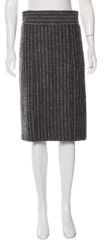 Magaschoni Bouclé Knee-Length Skirt