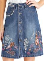 Joe Browns Embroidered Button Through Skirt