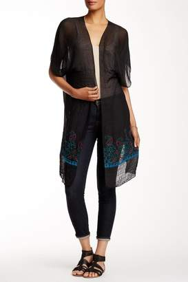 Rikka Sheer Black Long Cardigan