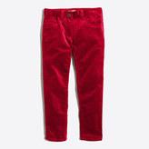 J.Crew Factory Girls' skinny velvet pant