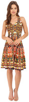 Christin Michaels Faye Sleeveless Racerback Dress with Back Detail