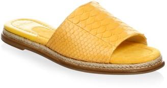 Alexandre Birman Shelby Leather Slide Sandal