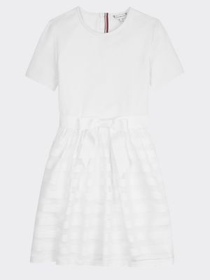 Tommy Hilfiger Organza Stripe Dress