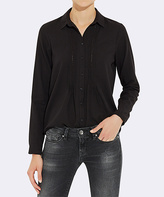 Mavi Jeans Black Pin Tuck Button-Up