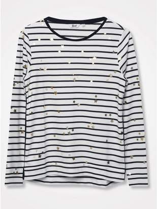 M&Co Khost Clothing foil star stripe top