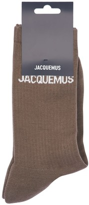 Jacquemus Logo Intarsia Cotton Blend Socks