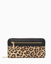 Charming charlie Leopard Zip Around Wallet