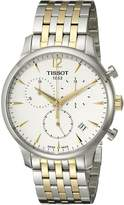 Tissot Men's T0636172203700 Tradition Analog Display Swiss Quartz Two Tone Watch