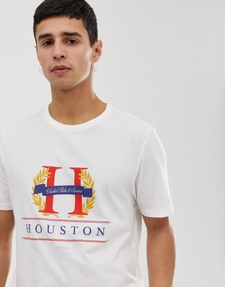 New Look t-shirt with Houston print in white