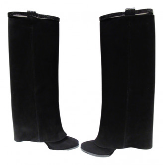 Givenchy Black Suede Boots