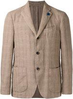 Lardini tartan pattern blazer - men - Cotton/Linen/Flax - 50