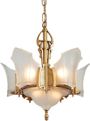 Rejuvenation Heraldic 6-Light Slipper Shade Chandelier