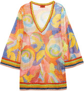 Missoni Mare Metallic Crochet-knit Kaftan - Orange