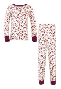 Touched by Nature Big Girls and Boys Berry Branch Tight-Fit Pajama Set, Pack of 2