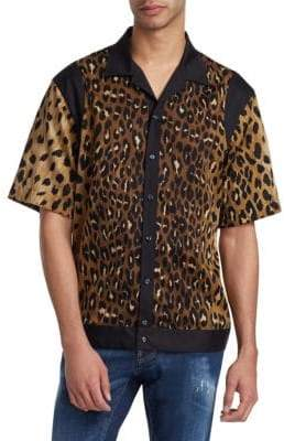 DSQUARED2 Leopard Print Bowling Shirt
