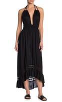 BOHO ME Braided Straps High/Low Hem Maxi Dress