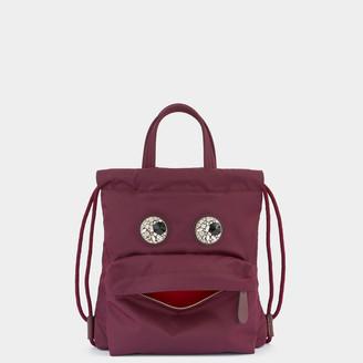 Anya Hindmarch Mini Crystal Eyes Drawstring Backpack