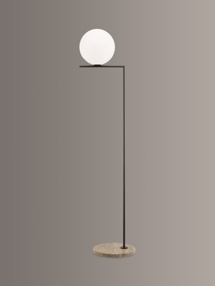 Flos IC F2 Outdoor Floor Lamp, Deep Brown/Marble