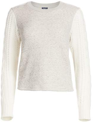 Splendid Emerson Mixed-Media Pullover